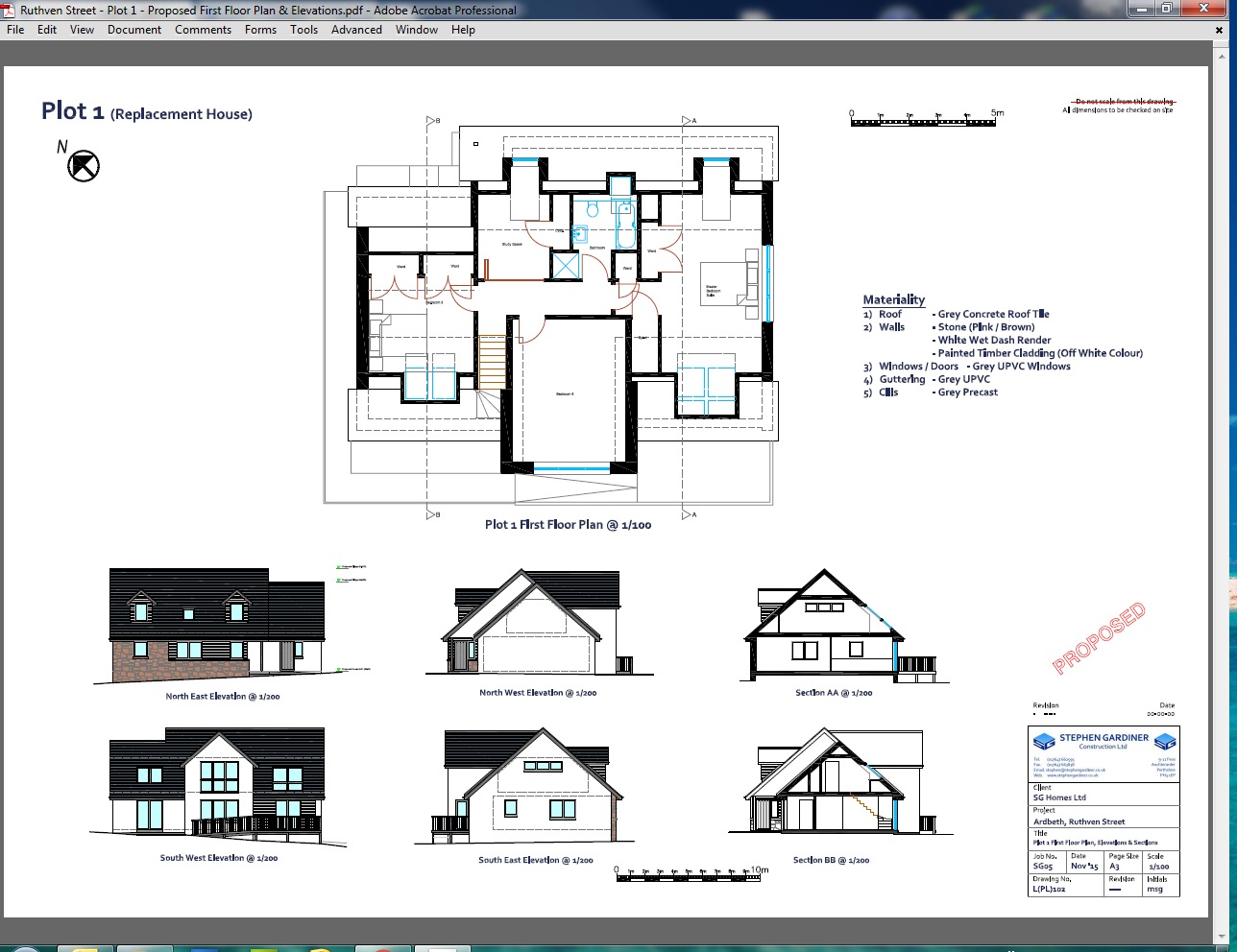 Ruthven Street - Plot 1 - Proposed Ground Floor Plan