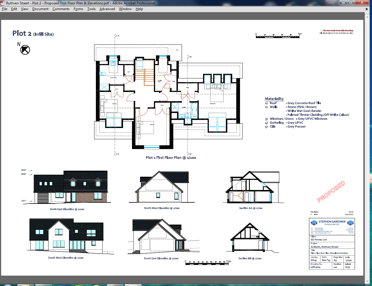 Proposed First Floor Plan & Elevations